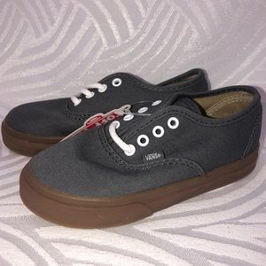 New Grey authentic VANS Shoes Toddler 9, 9.5 or 10